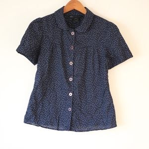 Marc Jacobs Dotted Blue Button Up Size 8